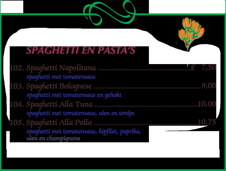Pizza's Spaghetti Pasta eten Nijmegen